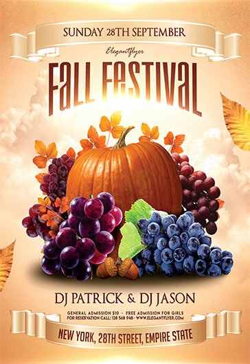 Fall Festival – Free Flyer Psd Template – by Elegantflyer