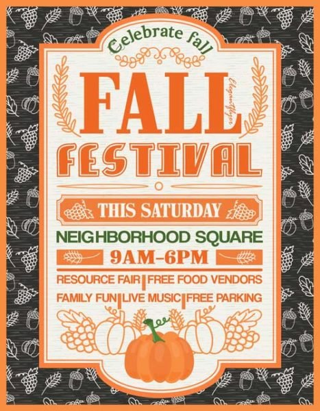 Fall Festival Free Party Flyer Template Download Free Flyer
