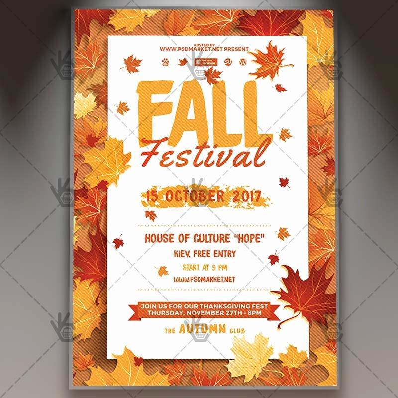 Fall Festival Premium Flyer Psd Template