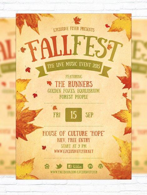 Fall Festival – Premium Flyer Template Cover