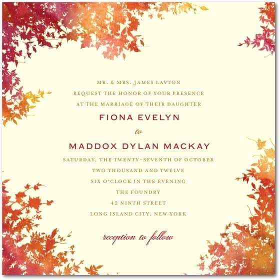 Fall Wedding Invitations Best Photos Page 7 Of 11 Cute