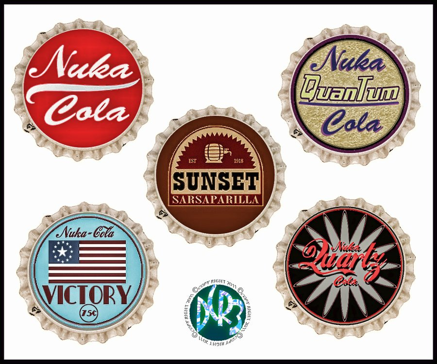Fallout 3 and New Vegas Bottle Caps by Dcriii On Deviantart