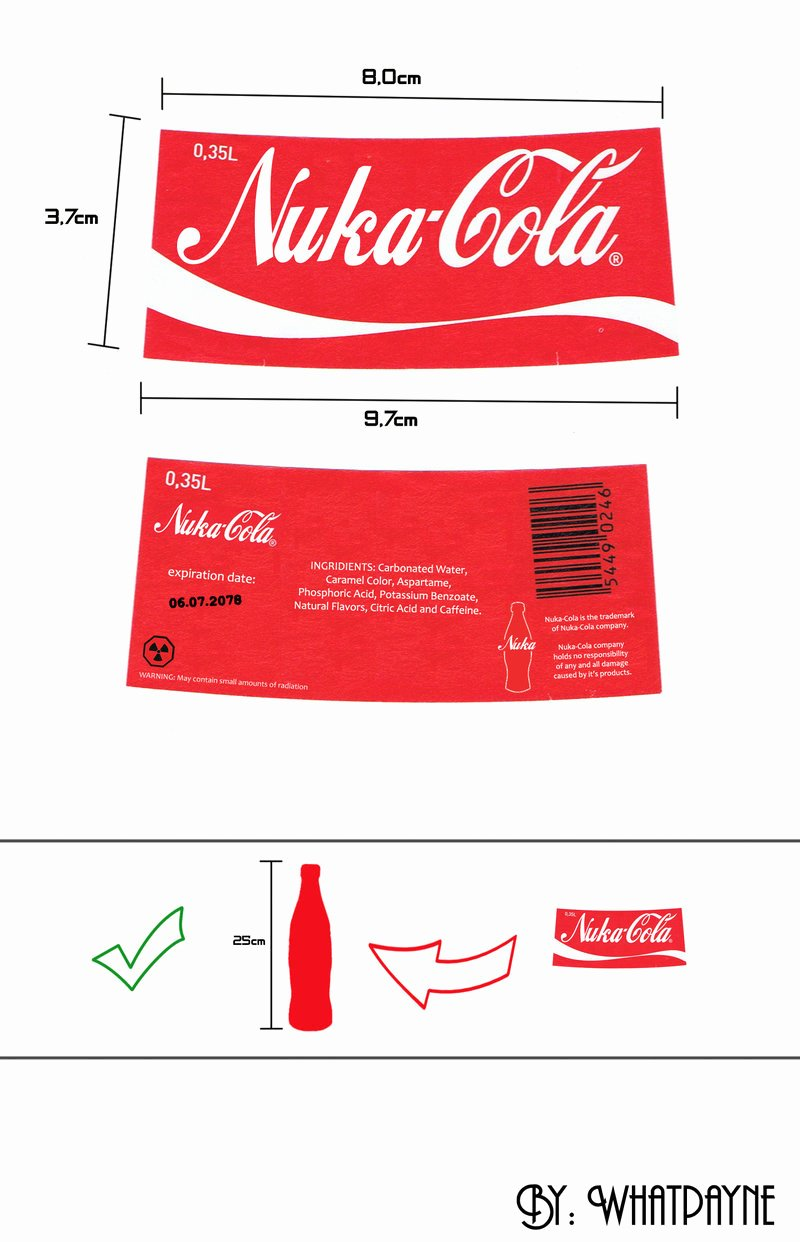 Fallout Nuka Cola Label by Whatpayne On Deviantart