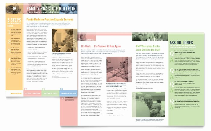 Family Doctor Newsletter Template Design