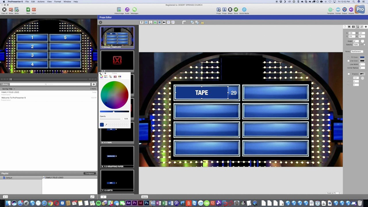Family Feud Game Board Propresenter Template