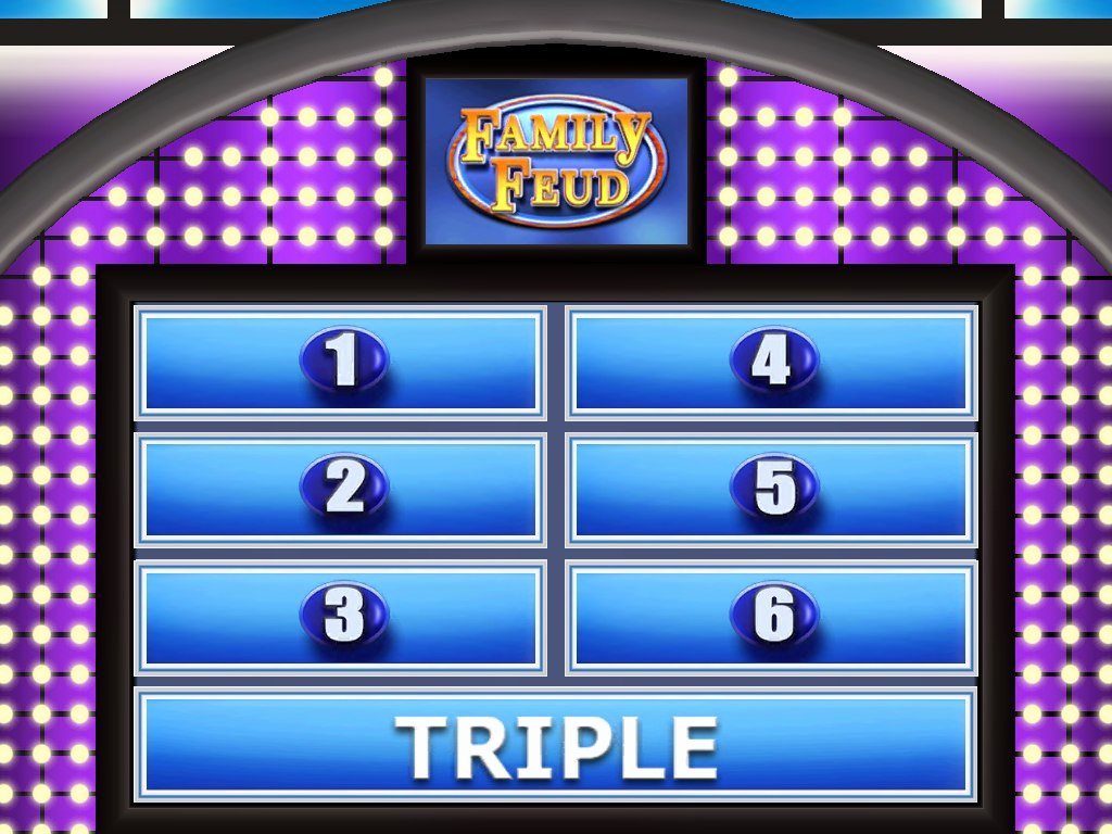 Family Feud Questions and Answers for Fice