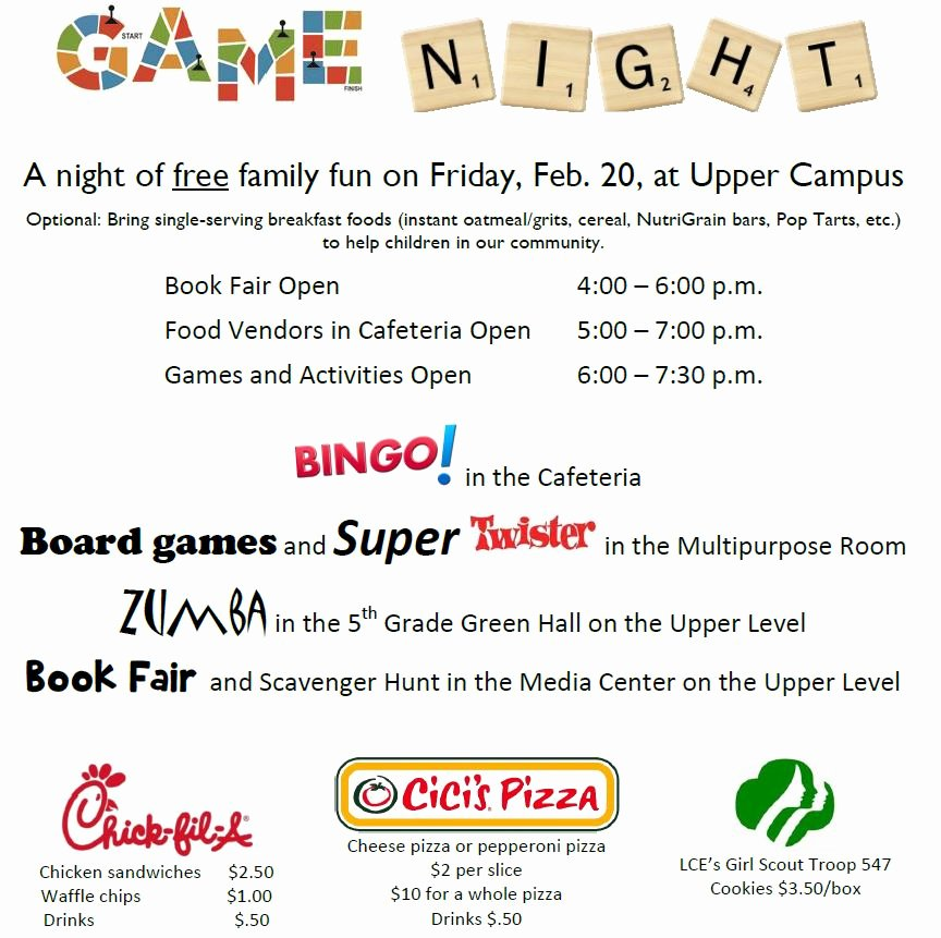 Family Fun Night Flyer Template to Pin On