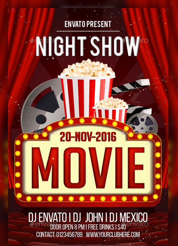 Family Movie Night Flyer Template Yourweek A3097eeca25e