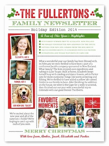 Family Newsletter 6x8 Stationery Card by Stacy Claire Boyd