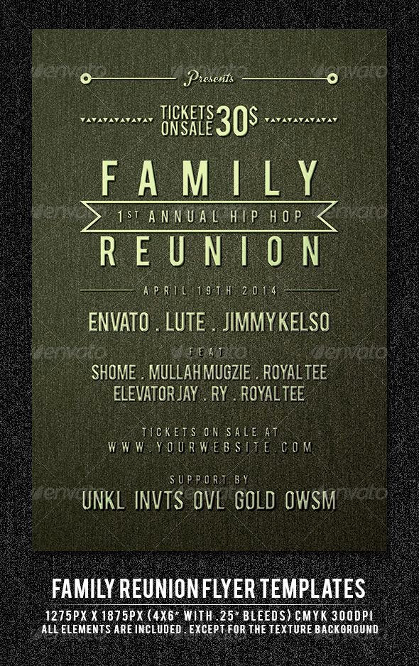 Family Reunion Flyer Template