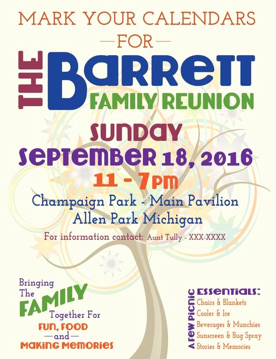 Family Reunion Flyer Tree Of Life by Jmrcreativedesign