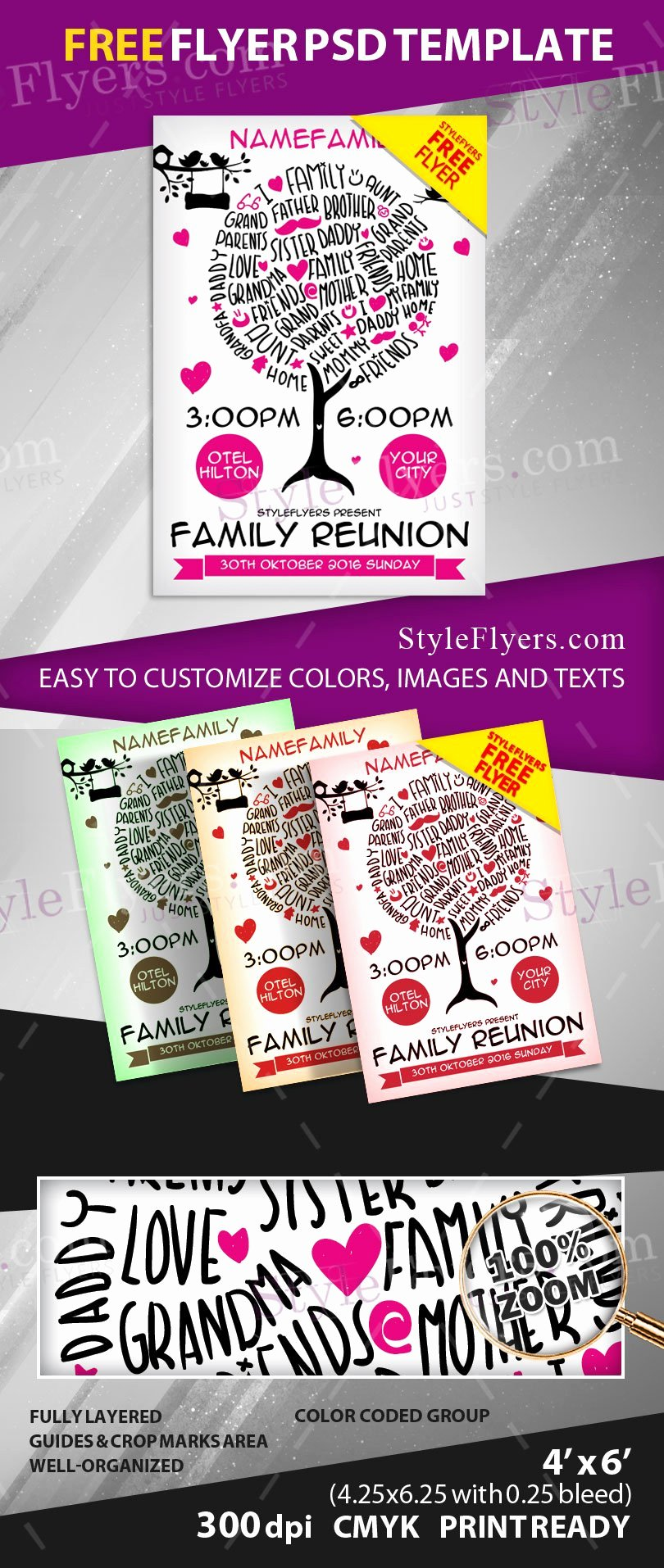 Family Reunion Free Psd Flyer Template Free Download