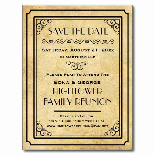 Family Reunion Invitation Postcard Templates