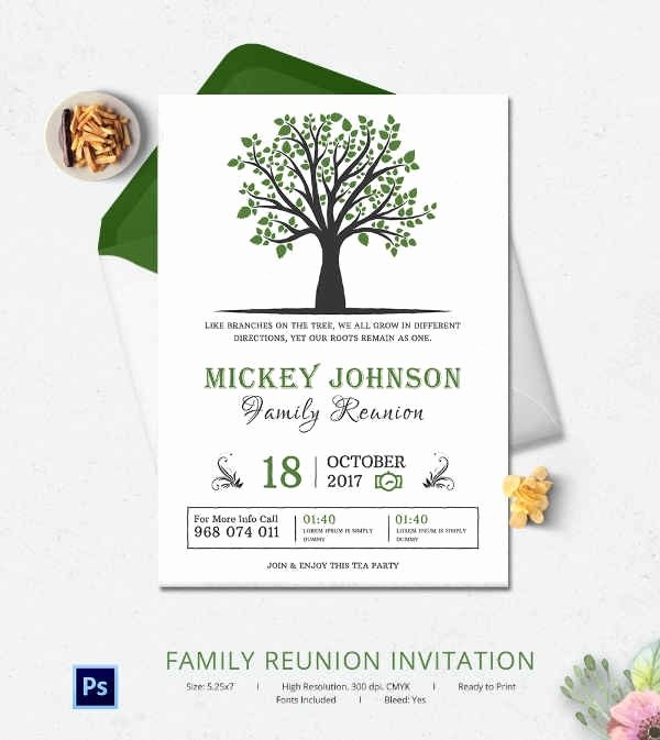 Family Reunion Invitation Templates Beepmunk