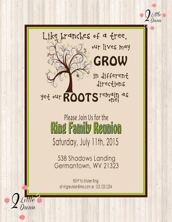 Family Reunion Invitation Templates Beepmunk