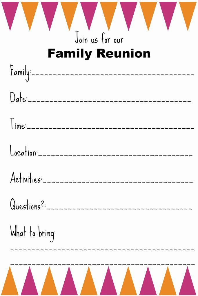 Family Reunion Invitation Templates Ginny S Recipes & Tips