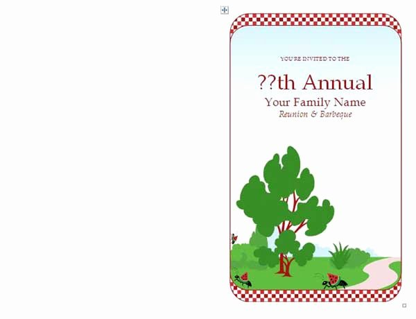 Family Reunion Invitations Microsoft Word Templates