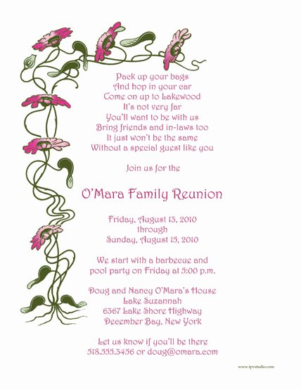 Family Reunion Invitations Template