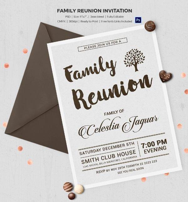 Family Reunion Invitations Templates – orderecigsjuicefo