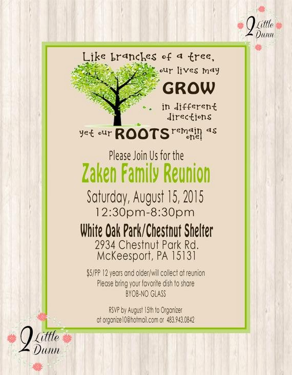 Family Reunion Invite Printable Digital Invitation
