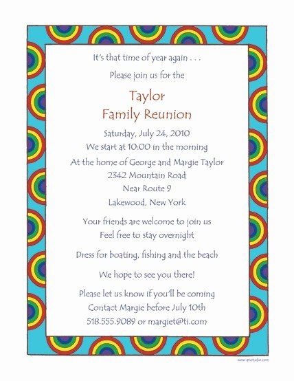 Family Reunion Letters Template Free Download 20 High