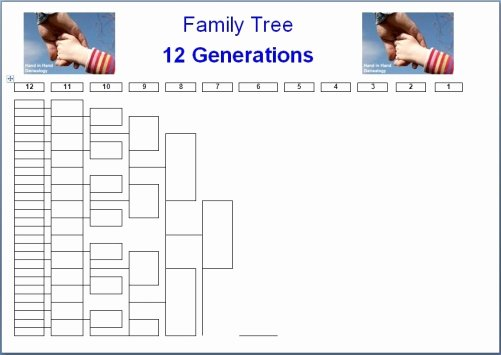 Family Tree Charts 8 Generations Emailed Parish Chest