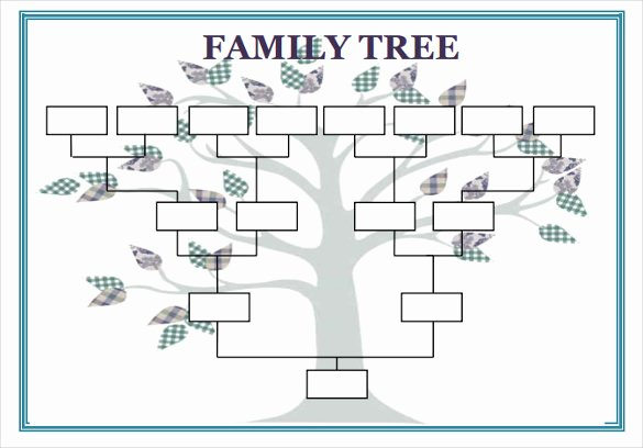 Family Tree Outline Template Blank Family Tree Pdf
