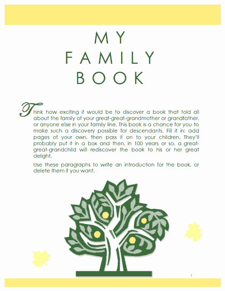 Family Tree Template Family History Record Template