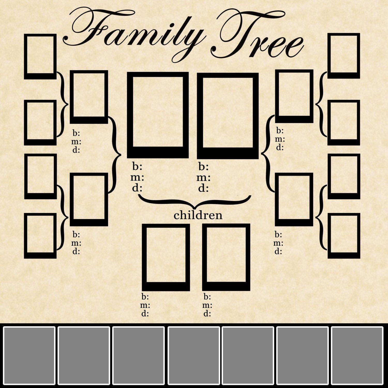 Family Tree Template Family Tree Template Psd