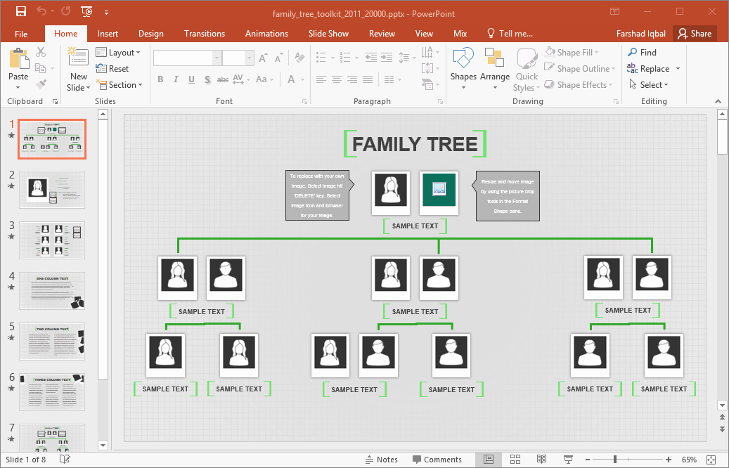 Family Tree Template for Excel