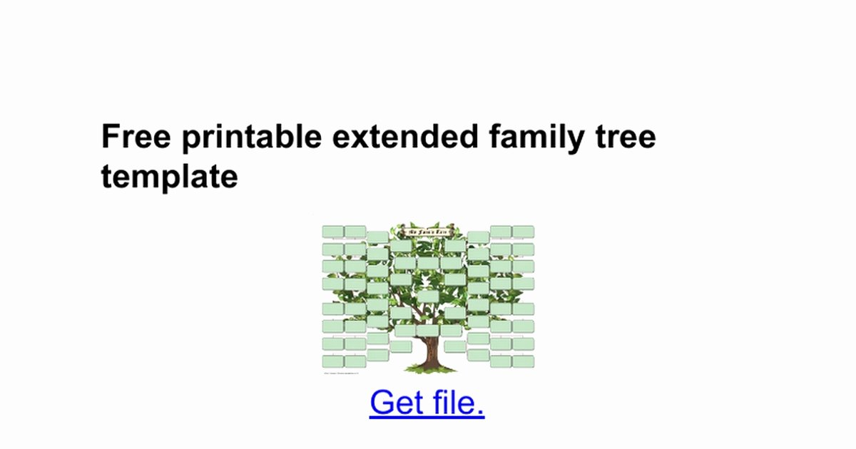 Family Tree Template Google Docs New Nice Extended Family