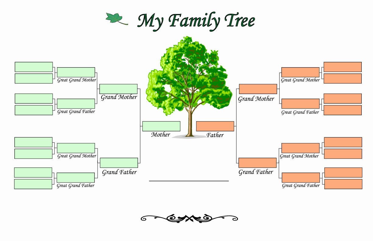 Family Tree Template Line Templates Data