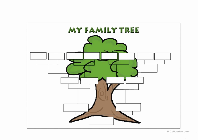 Family Tree Template Worksheet Free Esl Printable