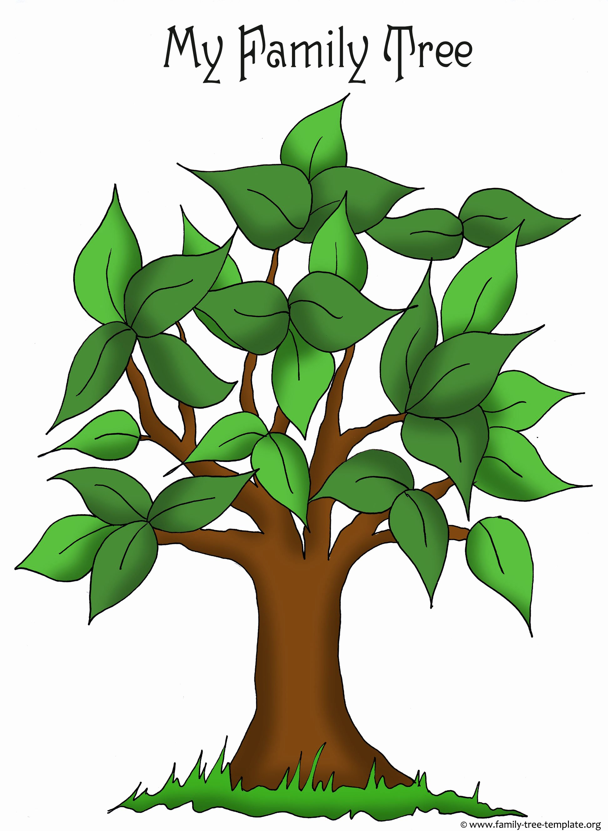 Family Tree Templates & Genealogy Clipart for Your