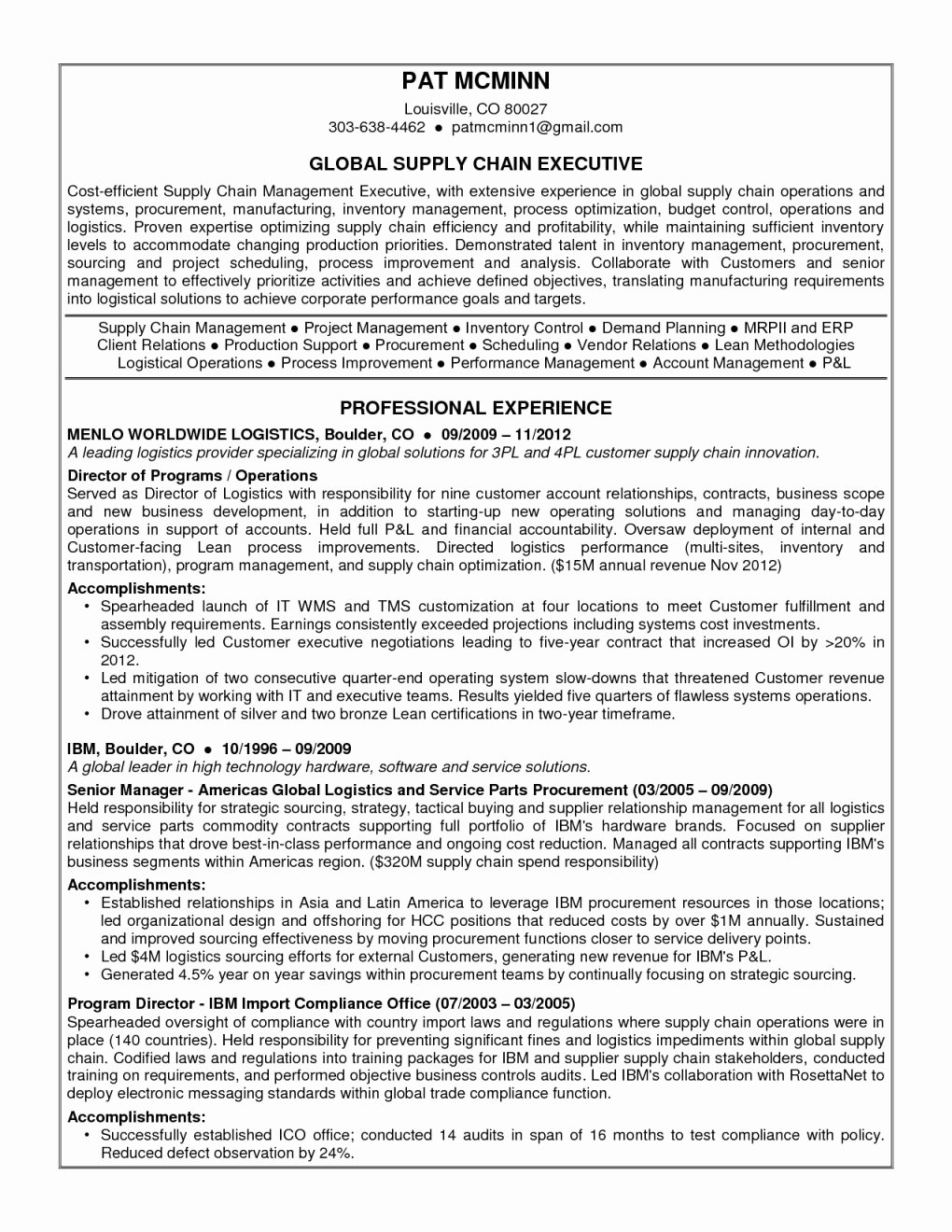 Famous Entry Level Supply Chain Resume Zv75