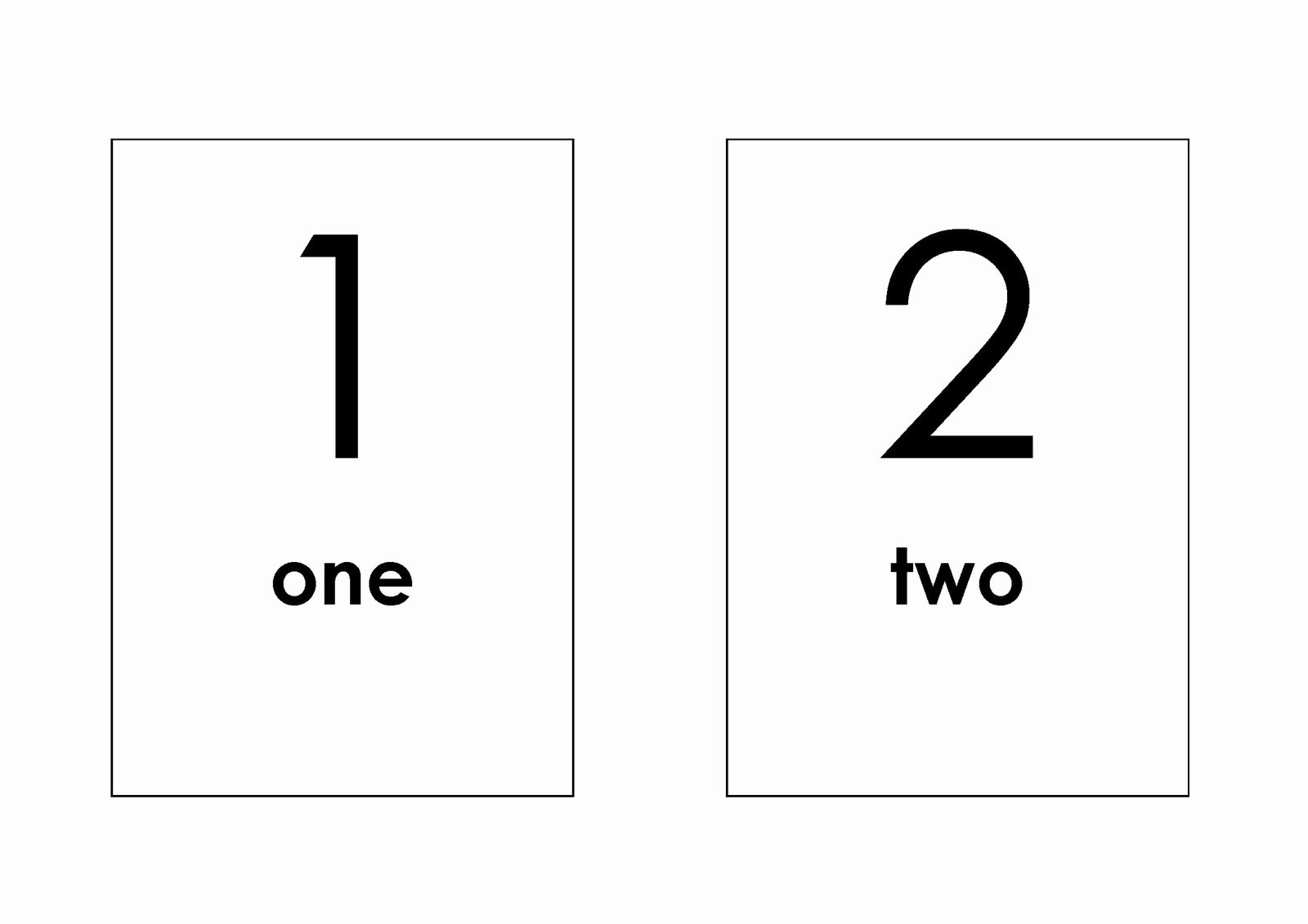 Famous Printable Number Flash Cards 1 10