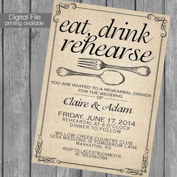 Fancy Dinner Invitation Template Invitation Template