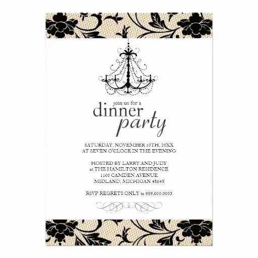 Fancy Dinner Party Invitations