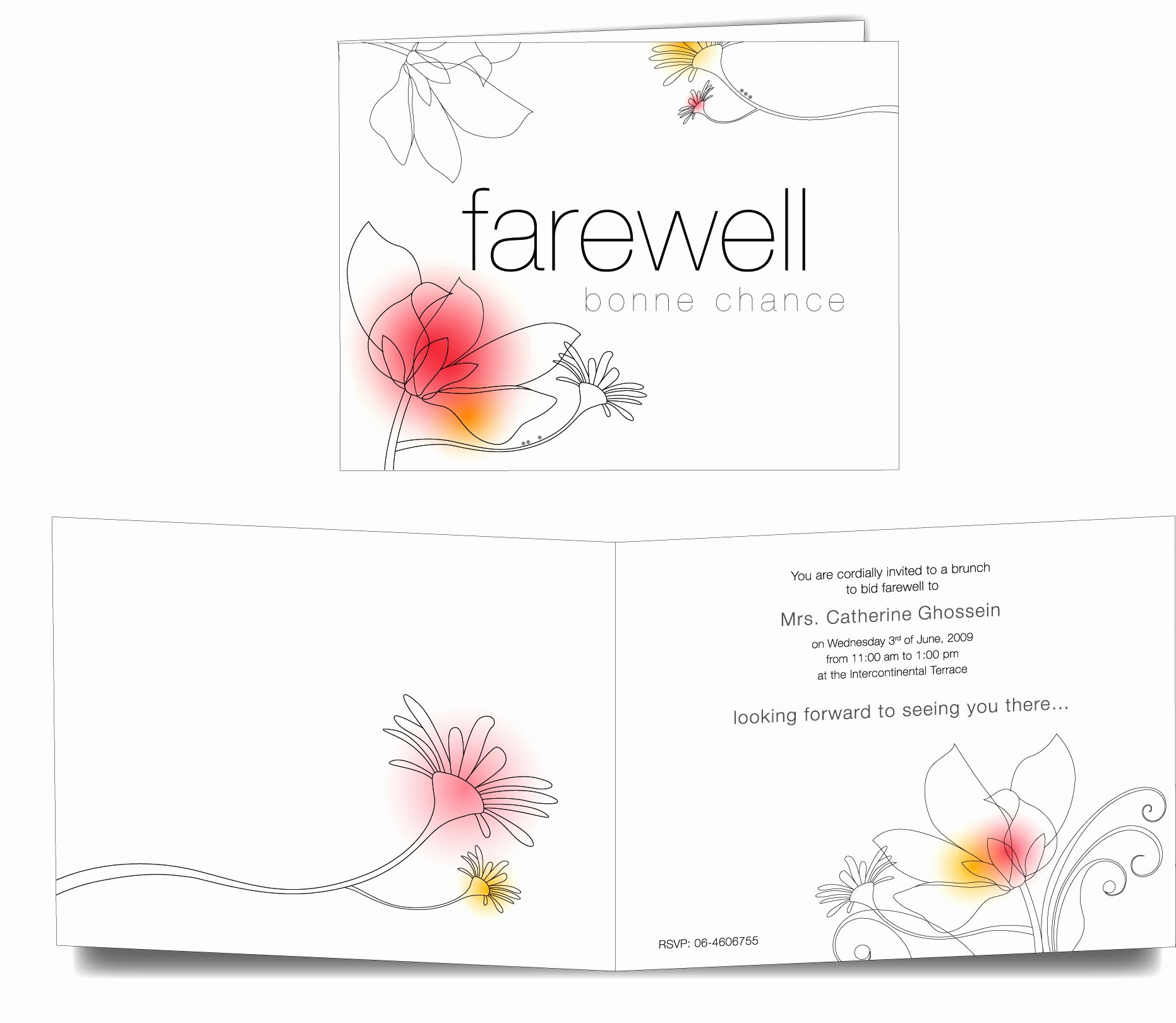 photo relating to Free Printable Going Away Party Invitations known as Farewell Card Template 23 Totally free Printable Term Pdf Psd