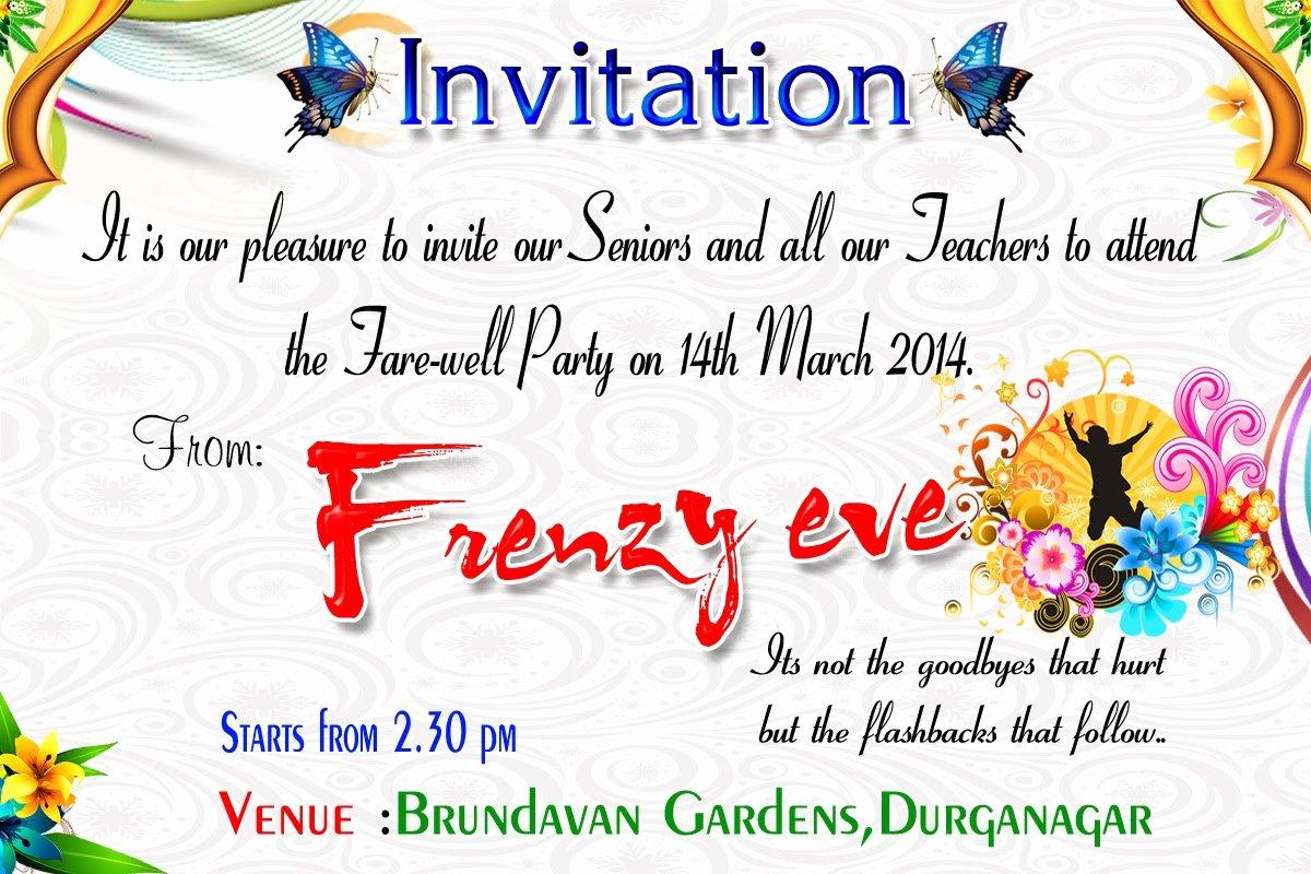 Farewell Invitation Cards