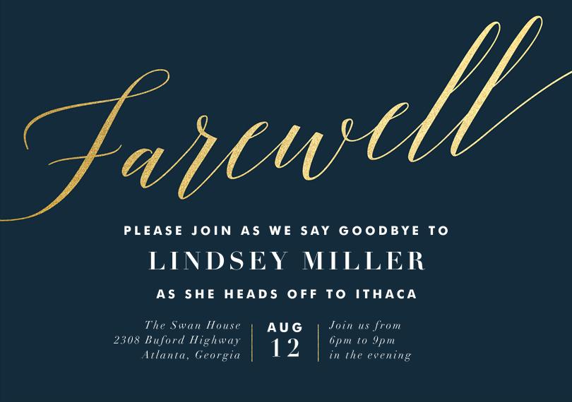 Farewell Invitation Template Farewell Party Invitations