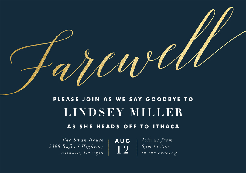 Farewell Invitation Template Farewell Party Invitations