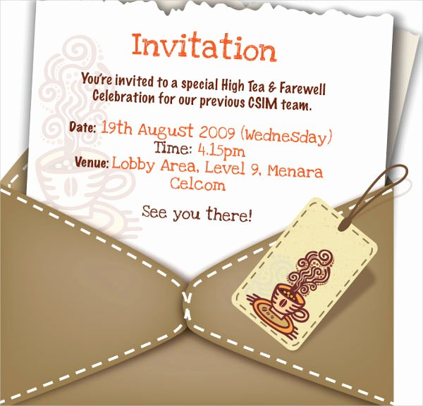 Farewell Lunch Invitation Email