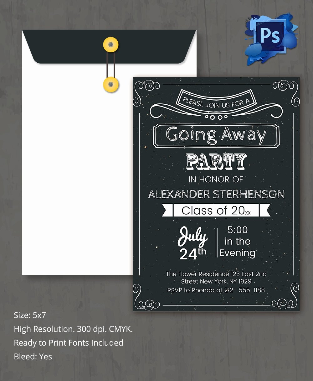Farewell Party Invitation Template 26 Free Psd format