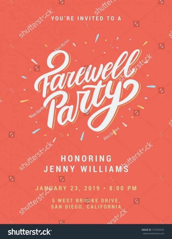 Farewell Party Invitation Template Free Spectacular Going