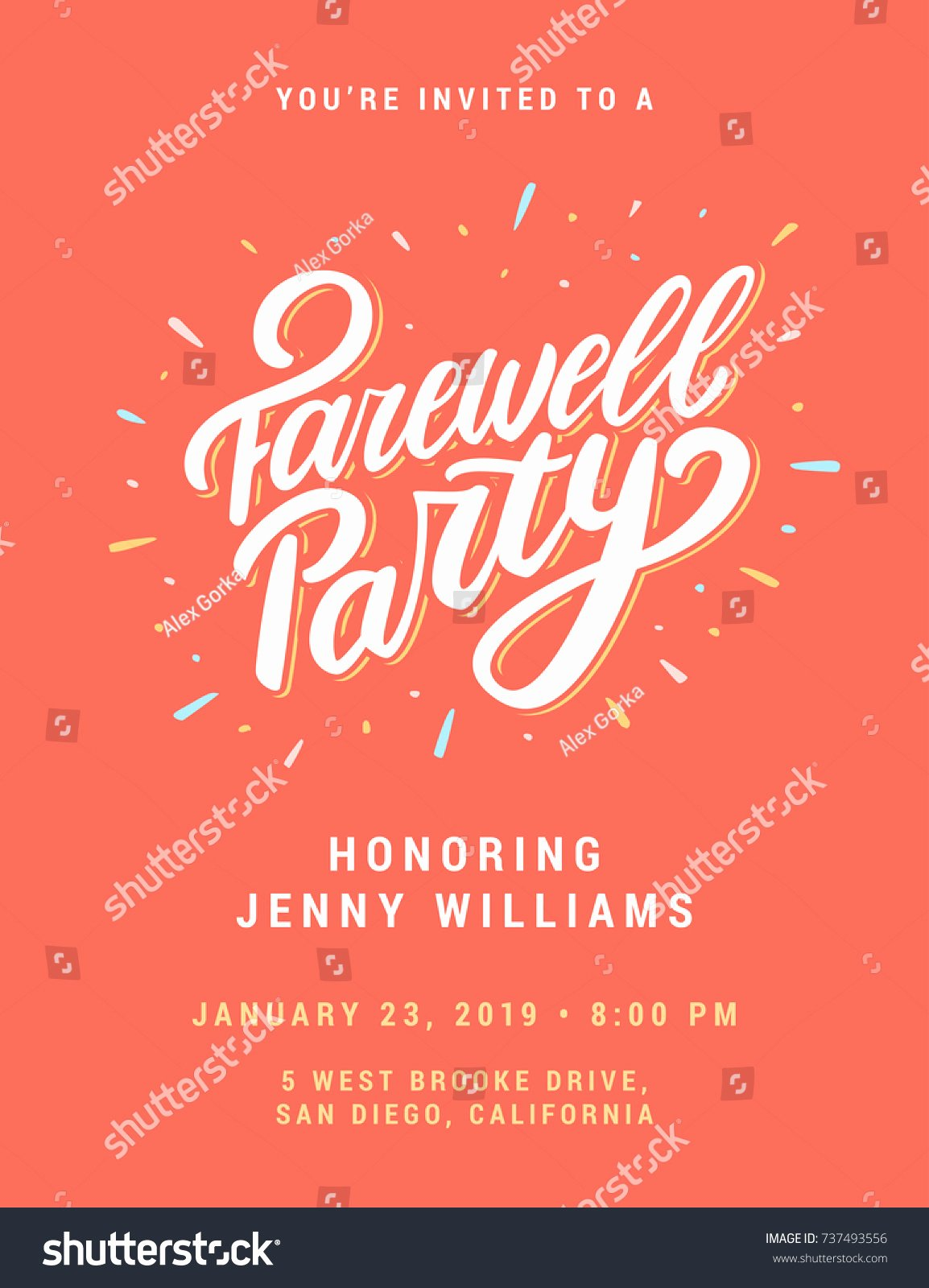 Farewell Party Invitation Template Stock V Free