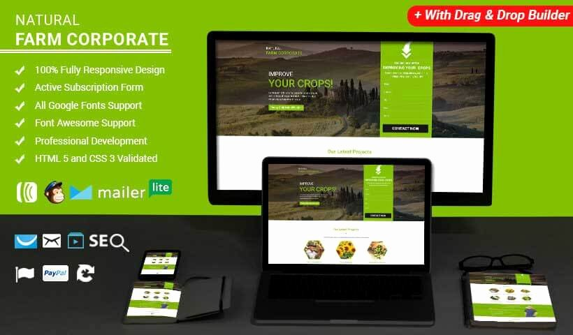 Farm HTML Website Templates Landing Page Template with