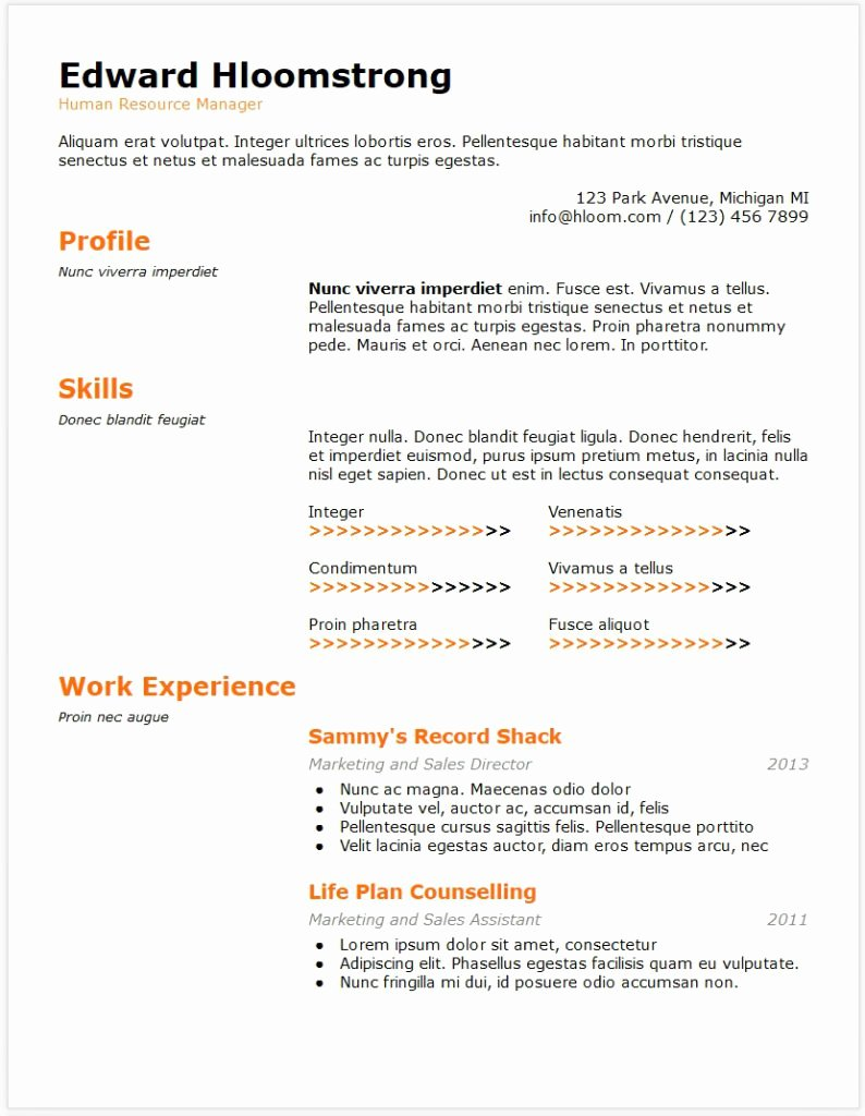 Fascinating Google Docs Resume Template Templates Free