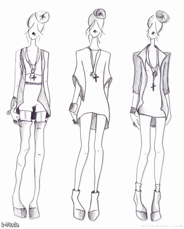 Fashion Croquis Back 2015 2016