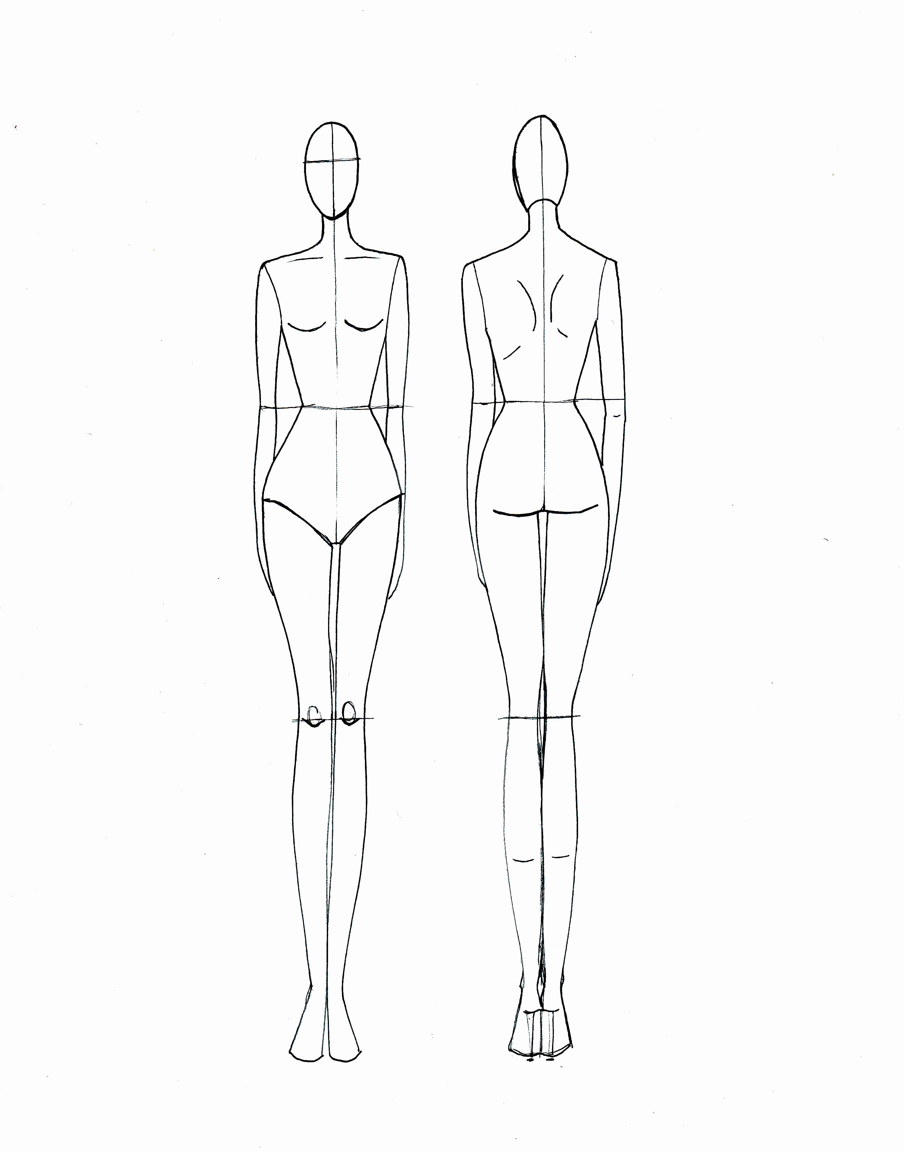 Fashion Croquis On Pinterest